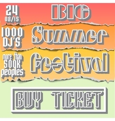 Brochure flyerposter for summer festival vector