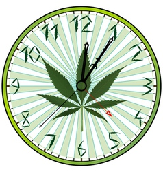 Cannabis clock vector