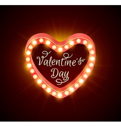 Retro shining banner for valentines day vector