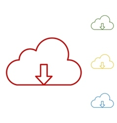 Cloud flat design style vector