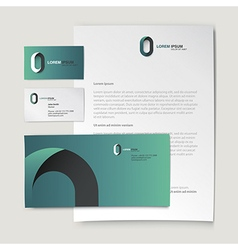 Corporate identity template Abstract logo on vector image