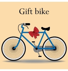 Bike gift active lifestyle sports vector