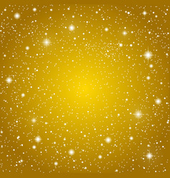Background golden starry sky eps 10 vector
