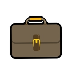 Colorfull suitcase icon bag design vector