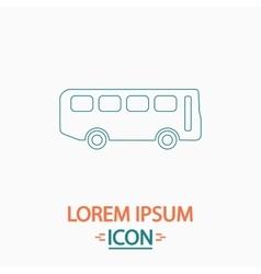 Old bus computer symbol vector