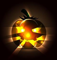 a Halloween pumpkin vector image