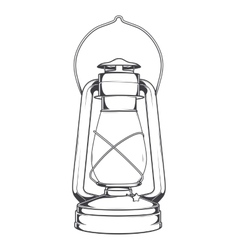Antique Old Kerosene Lamp vector image vector image