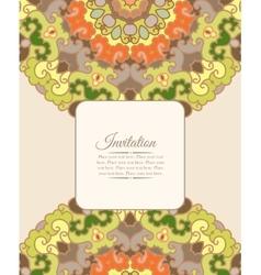 Card or invitation Vintage decorative ornament vector image vector image