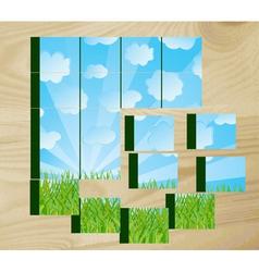 children's cubes vector image vector image