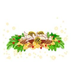 Christmas decoration white poinsettia vector image