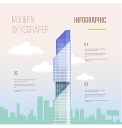 City infographics of glass modern office vector image