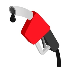 Gasoline pump nozzle isometric icon vector image
