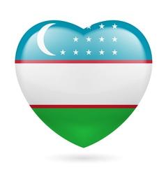 Heart icon of Uzbekistan vector image