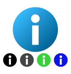 Information flat gradient icon vector