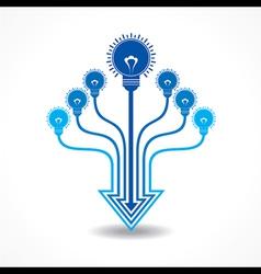 Light-bulb make arrow design vector image
