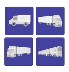 Logistics truck set vector