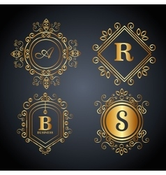 monogram background design vector image