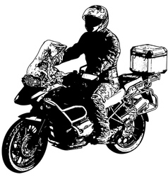 Motorcyclist 2 vector
