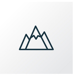 Mountains outline symbol premium quality isolated vector