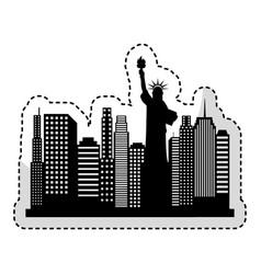 new york cityscape icon vector image vector image
