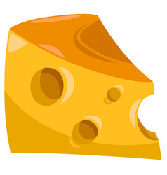 piece of cheese food object vector image