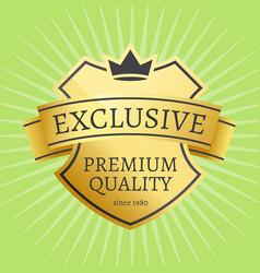 premium quality best golden label 100 guarantee vector image