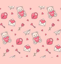 romantic symbols seamless pattern vector image vector image