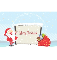 Santa with billboard vector