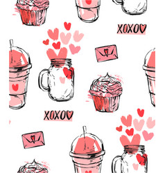 set of stickers badges and labels for valentine s vector image vector image