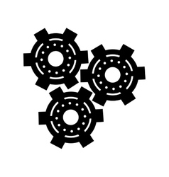 Silhouette set gear wheel engine cog icon vector