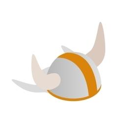 Swedish viking helmet icon isometric 3d style vector
