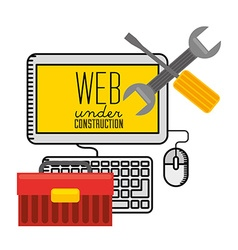 Under construction website vector
