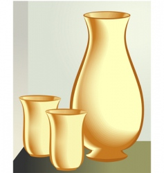 Water jug and glass vector image