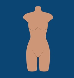 Woman mannequin torso flat style vector