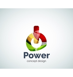 Power button logo template vector