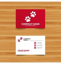 Paw sign icon Dog pets steps symbol vector image
