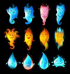cartoon funny characters set vector image