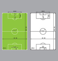 Soccer or football field size vector