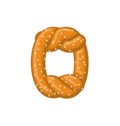 Letter o pretzel snack font symbol food alphabet vector