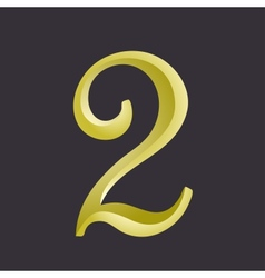 The number two vector image