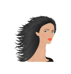 Portrait of brunette woman vector
