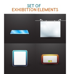Exhibition design collection vector