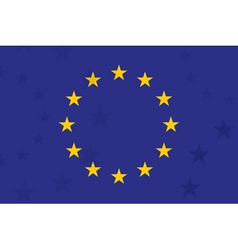 European union flag with additional stars on vector