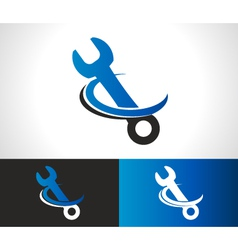 Wrench repair logo icon vector