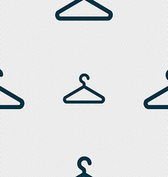 Clothes hanger icon sign seamless pattern with vector