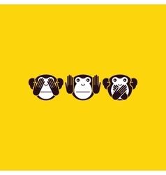 monkey background vector image