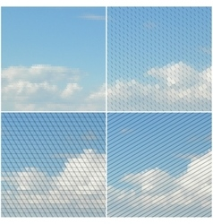 Blue sky with clouds collection of abstract vector