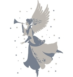 Beautiful angel silhouette vector