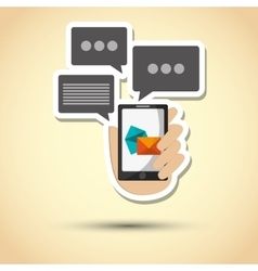Sms graphic and smartphone design vector