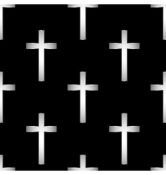 Religious cross seamless pattern vector